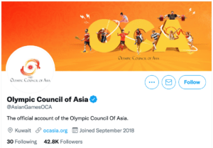 Olympic Council of Asia (@AsianGamesOCA)
